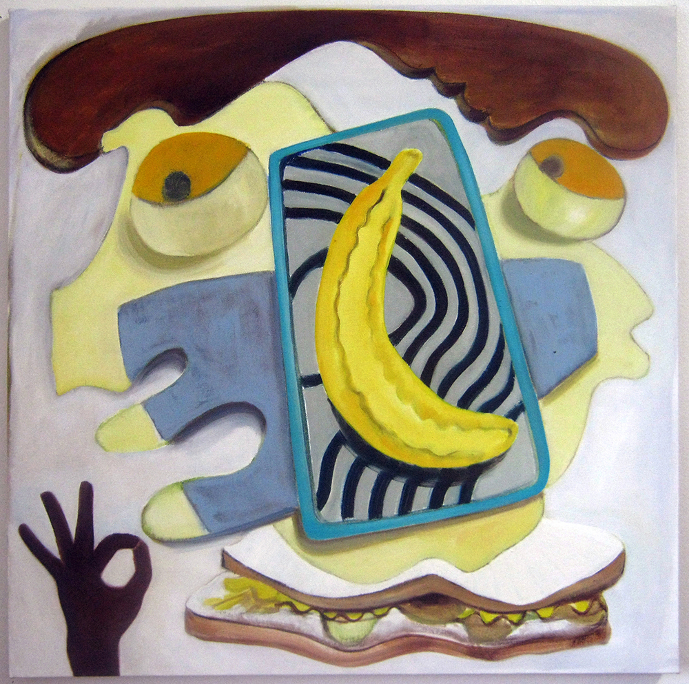 "Banana  34"" x 34""  Oil on canvas  2014"