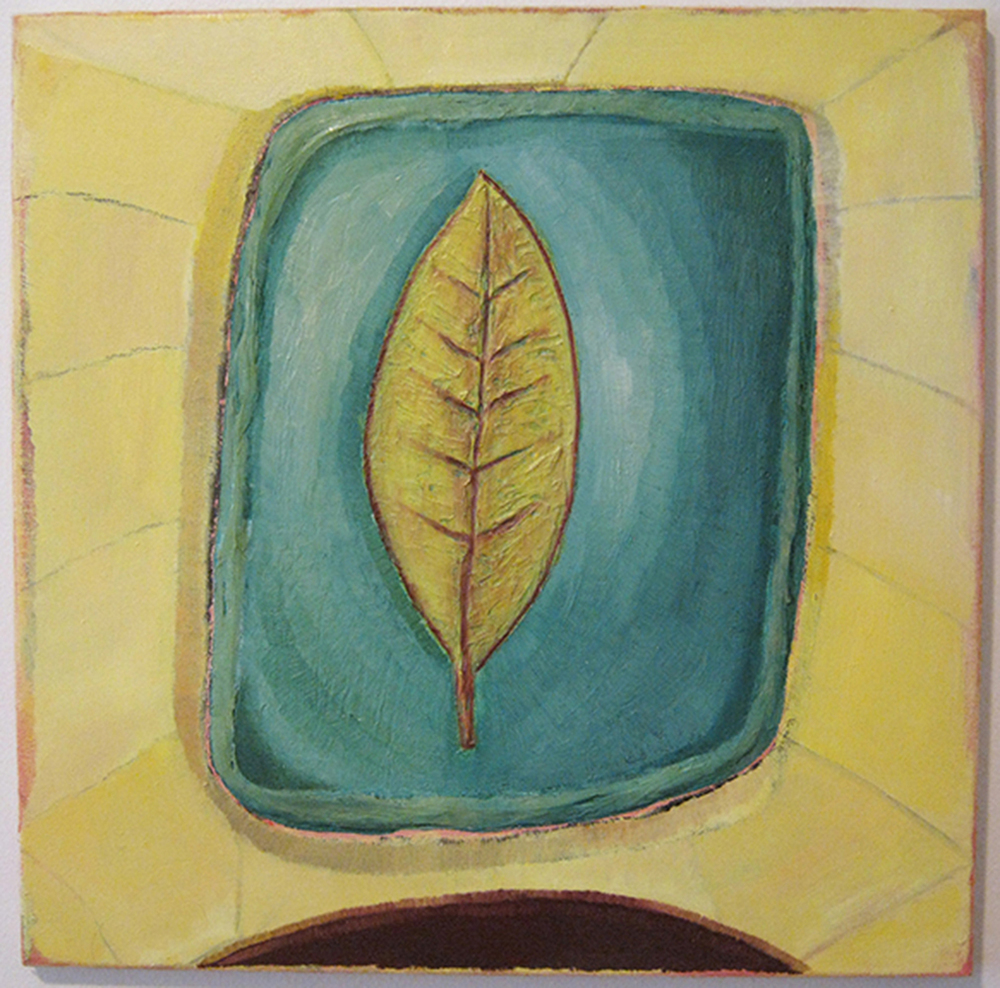 "Leaf  19"" x 19""  Oil on canvas  2013"