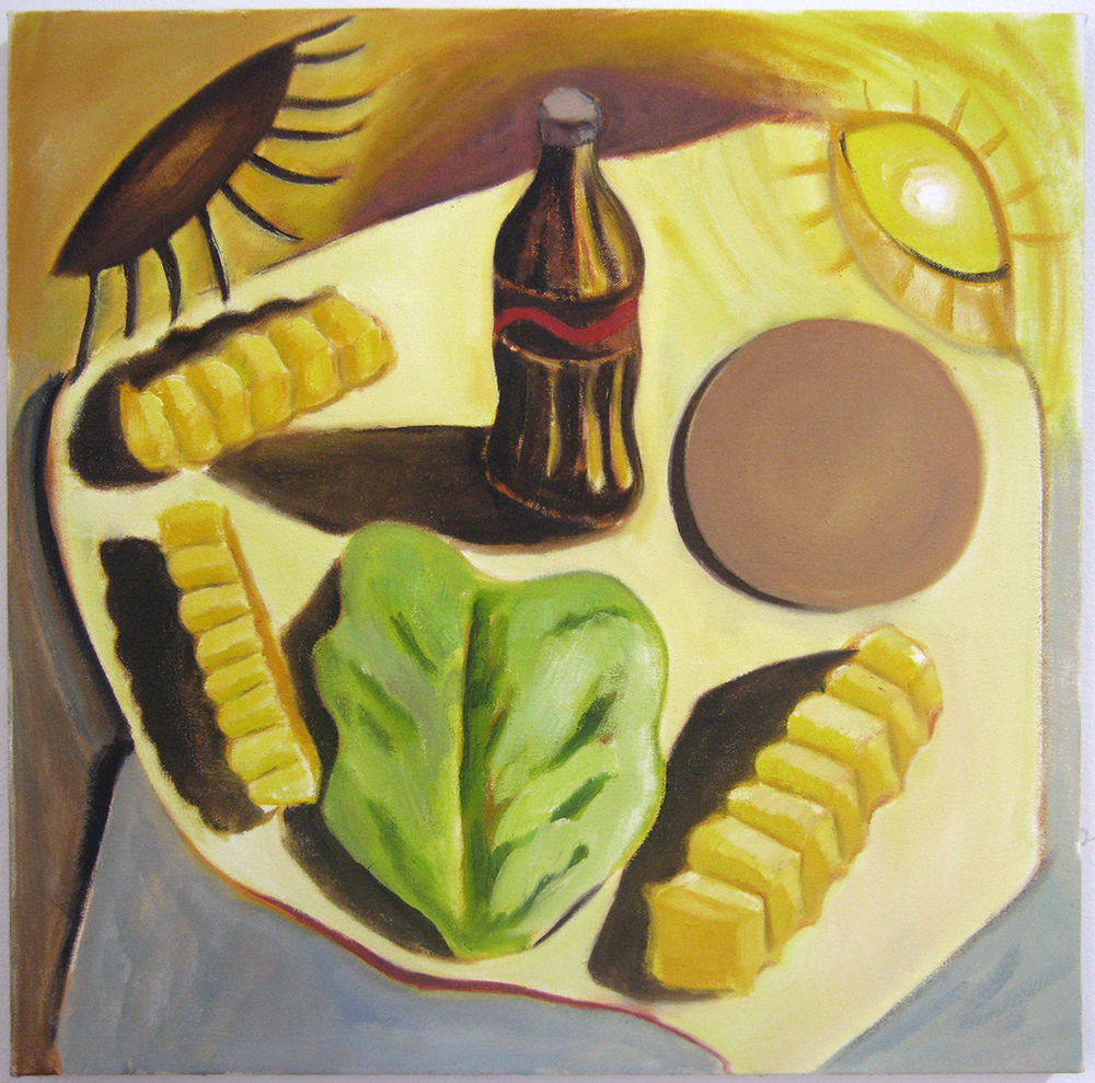 "Still Life  19"" x 19""  Oil on canvas  2014"