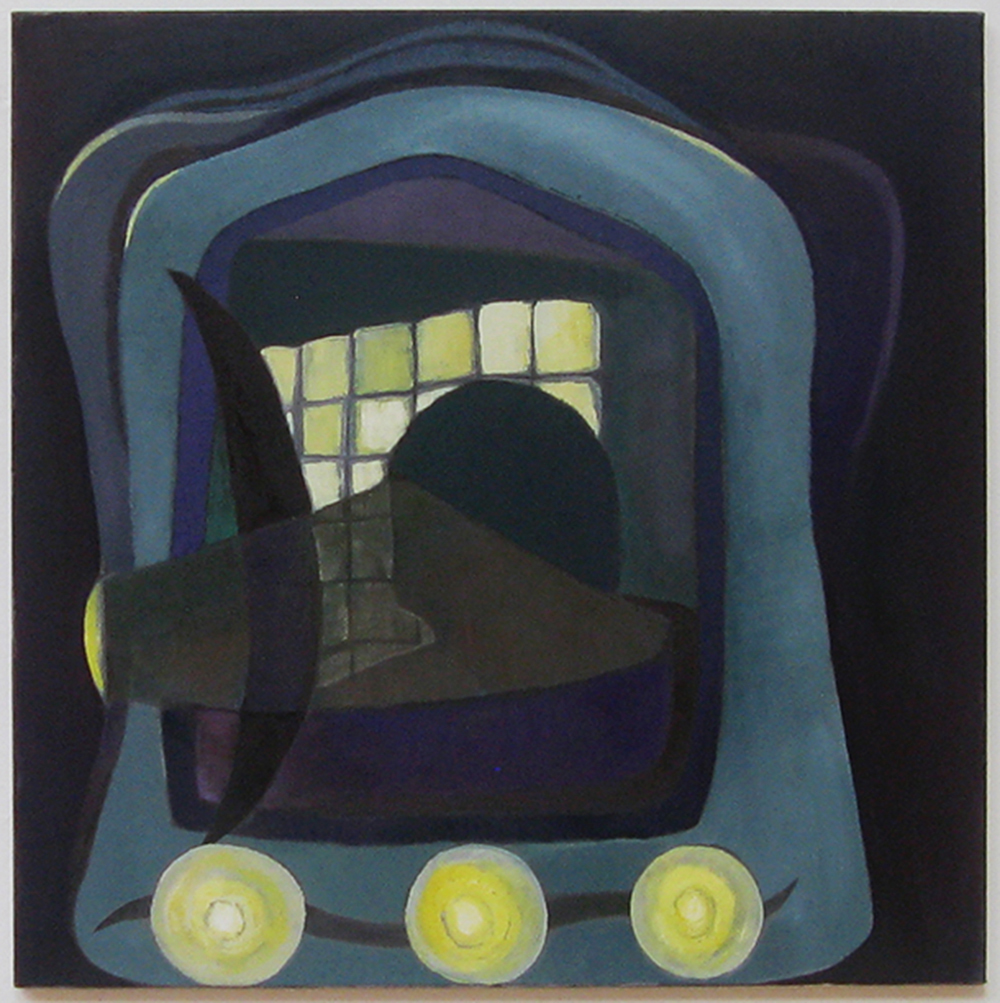 "Mirror  35"" x 35""  Oil on canvas  2013"