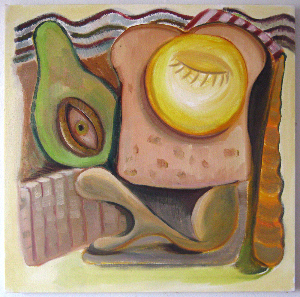 "Avocado  19"" x 19""  Oil on canvas  2014"