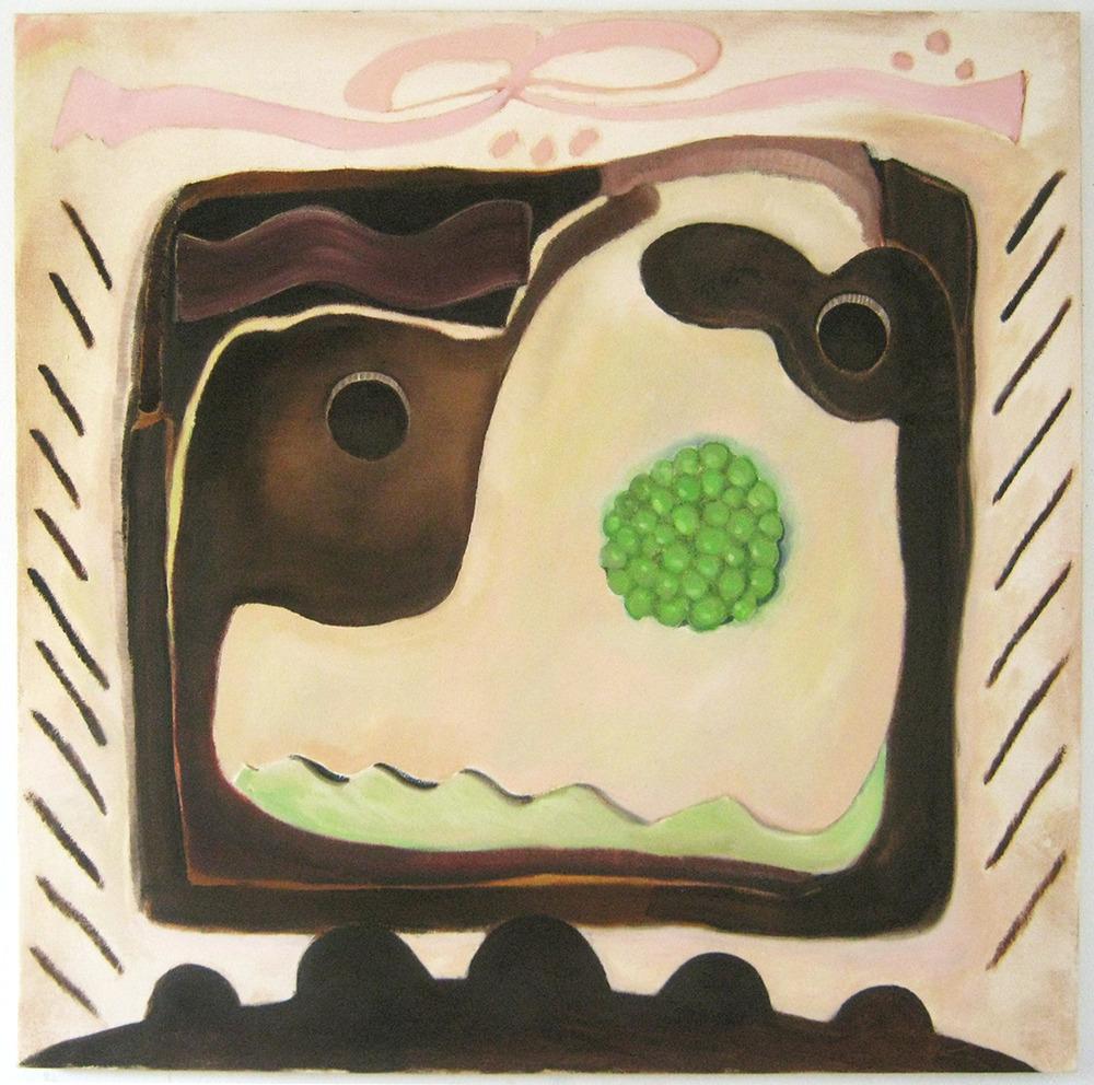 """Peas  34"""" x 34""""  Oil on canvas  2014"""