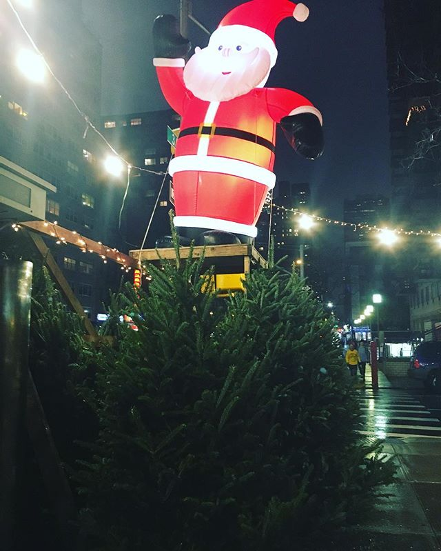 Look who arrived in NYC! Christmas trees and Santa the day after Thanksgiving. Holiday time in New York City is a special time. The smell of pine trees on sidewalks and Christmas lights strung up. #christmas #nyc #bigapple #holidays