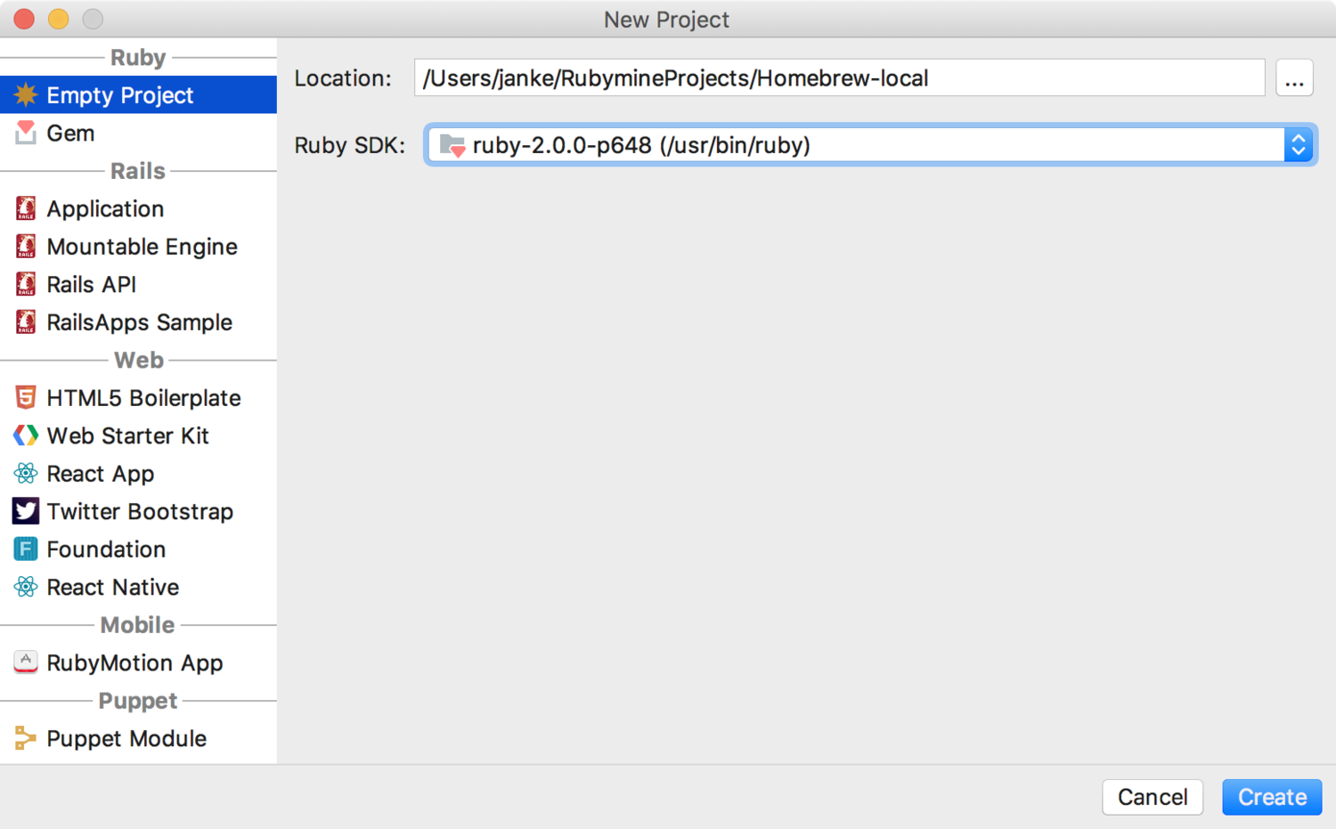 Developing Mac Homebrew with RubyMine — Andrew Janke