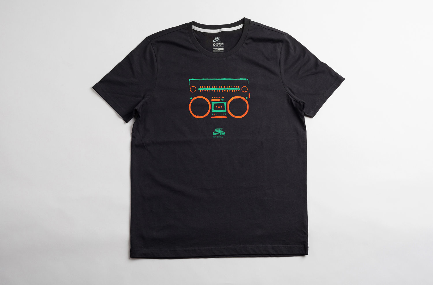 Nike Air Force 1 Boombox T Shirt Antonio Brasko Brasko Design Studio