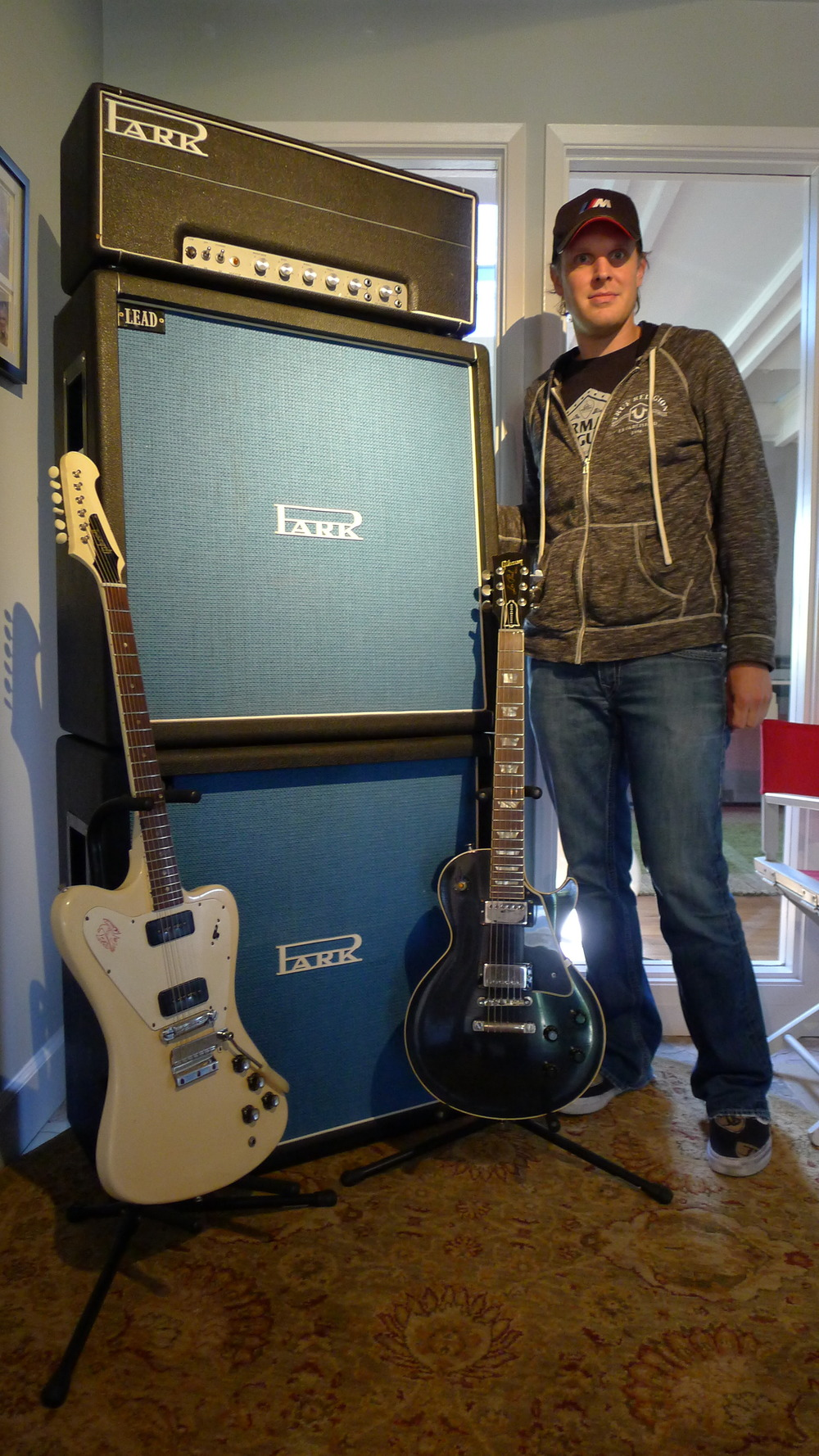 Joe Bonamassa  and his early 1970s vintage 100 watt stack