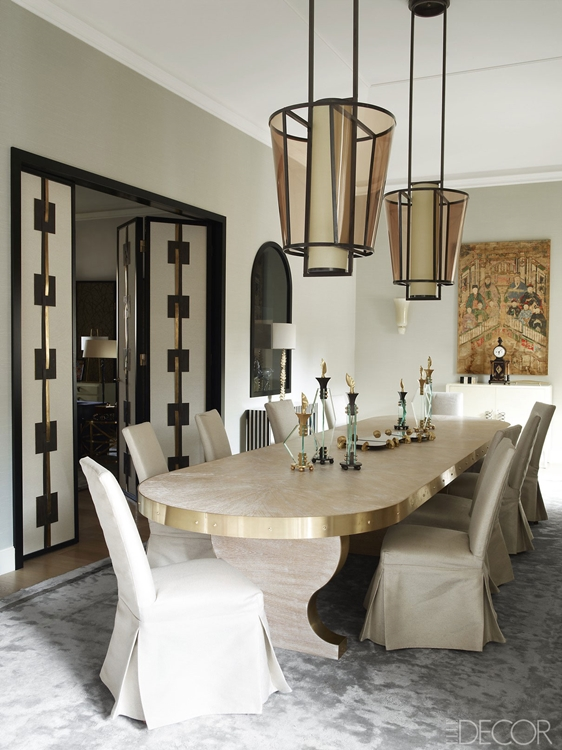 Dining Room by Achille Salvagni, as featured in Elle Decor.