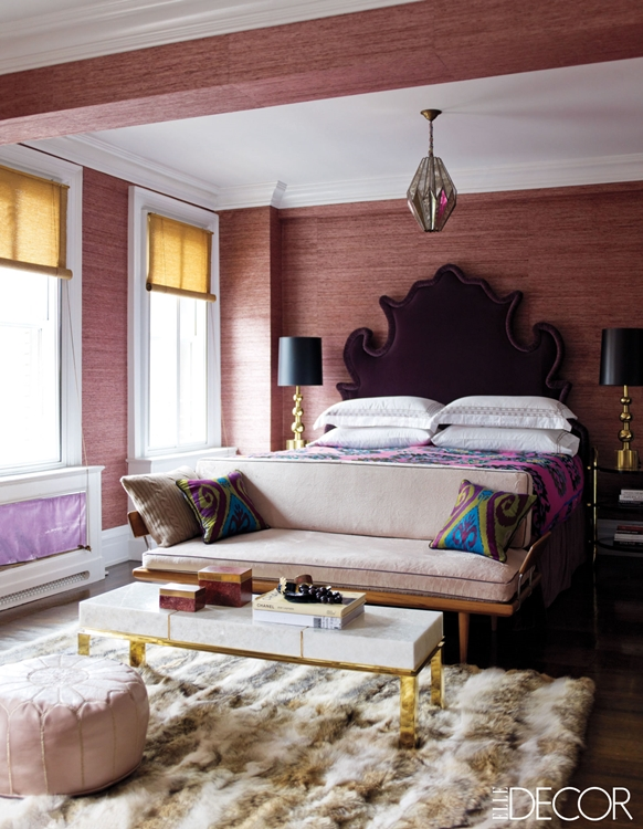 Bedroom by Jackie Astier as featured in Elle Decor.