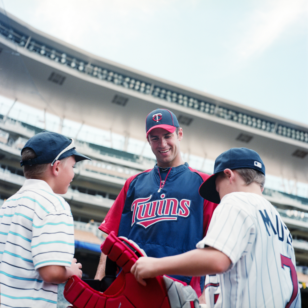 Joe Mauer signing an autograph for some young fans from few years back shot with my Yashica Twin Lens and Kodak Portra 160
