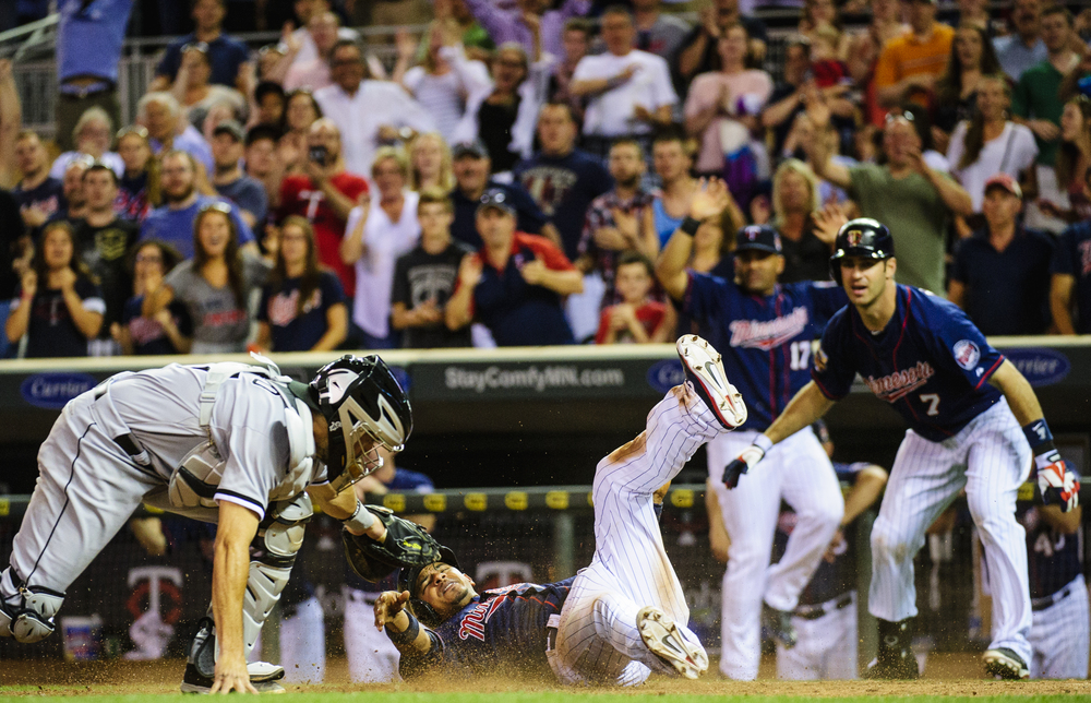 MINNEAPOLIS, MN - JUNE 20:  of the game on June 20, 2014 at Target Field in Minneapolis, Minnesota. The Twins defeated the White Sox 5-4 with a walk-off. (Photo by Hannah Foslien/Getty Images) *** Local Caption *** =m#3;=v#3