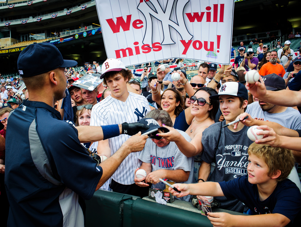 MINNEAPOLIS, MN - JULY 6:  on July 6, 2014 at Target Field in Minneapolis, Minnesota. The Yankees defeated the Twins 9-7. (Photo by Hannah Foslien/Getty Images) *** Local Caption *** =m#3;=v#3