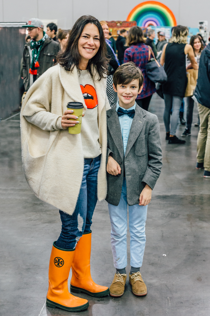 This kid rocks a bowtie and jacket. Apparently he got the style gene from his ma.
