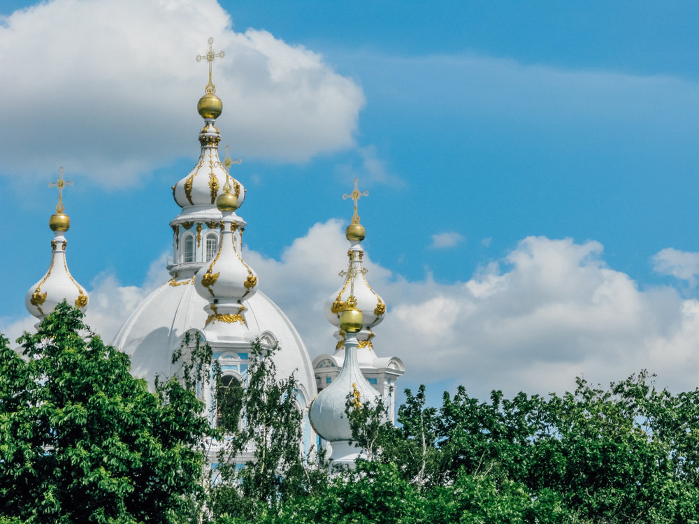 The spires of St. Petersburg State University