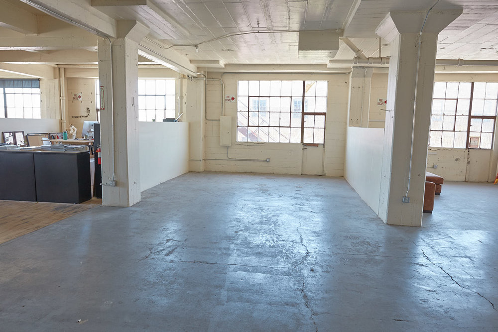 290 square foot studio located on the second floor of the building