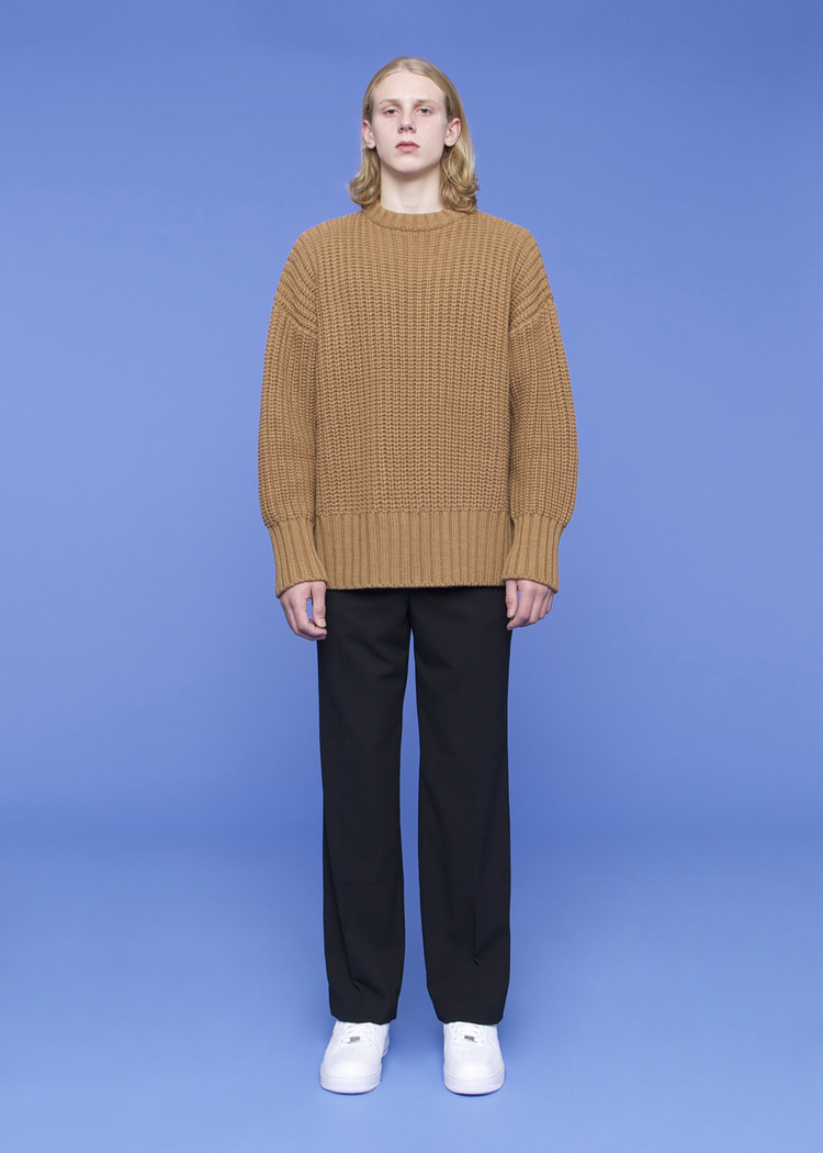 ADER ERROR - OVERSIZE RIBBED SWEATER - CAMEL — FIG COLLECTIVE