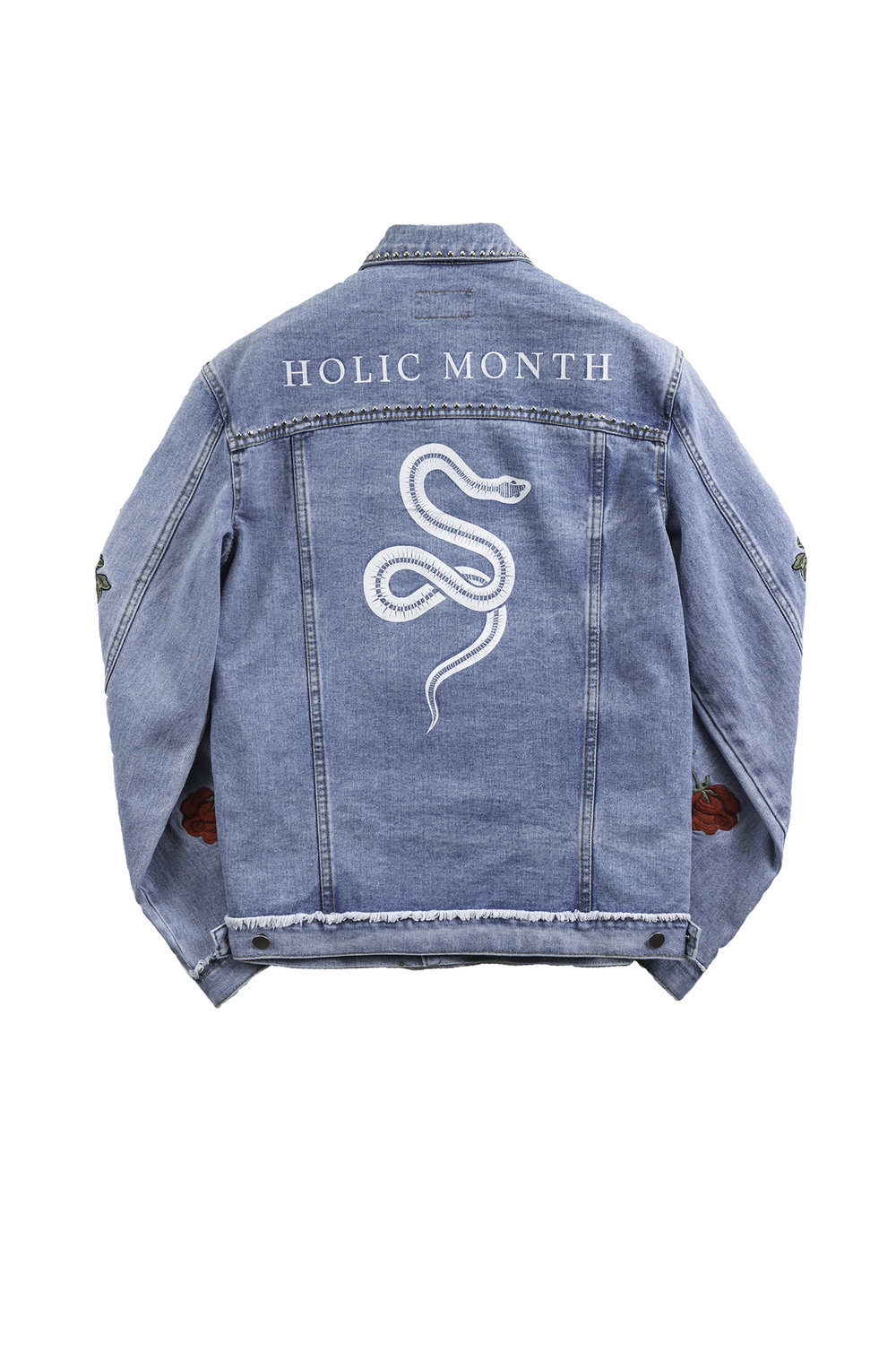 794c8fed9fd 13 MONTH – ROSE EMBROIDERED OVERSIZED DENIM JACKET — FIG COLLECTIVE