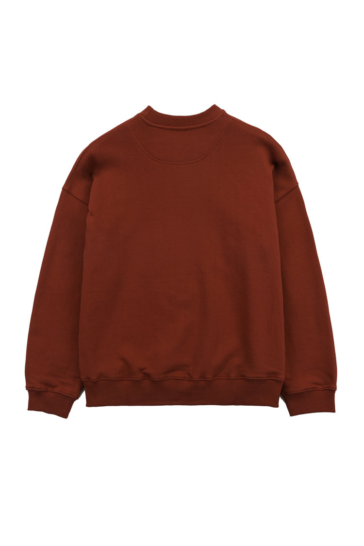 VEI-8 – FLOWER PINNED SWEATSHIRT – RED — FIG COLLECTIVE