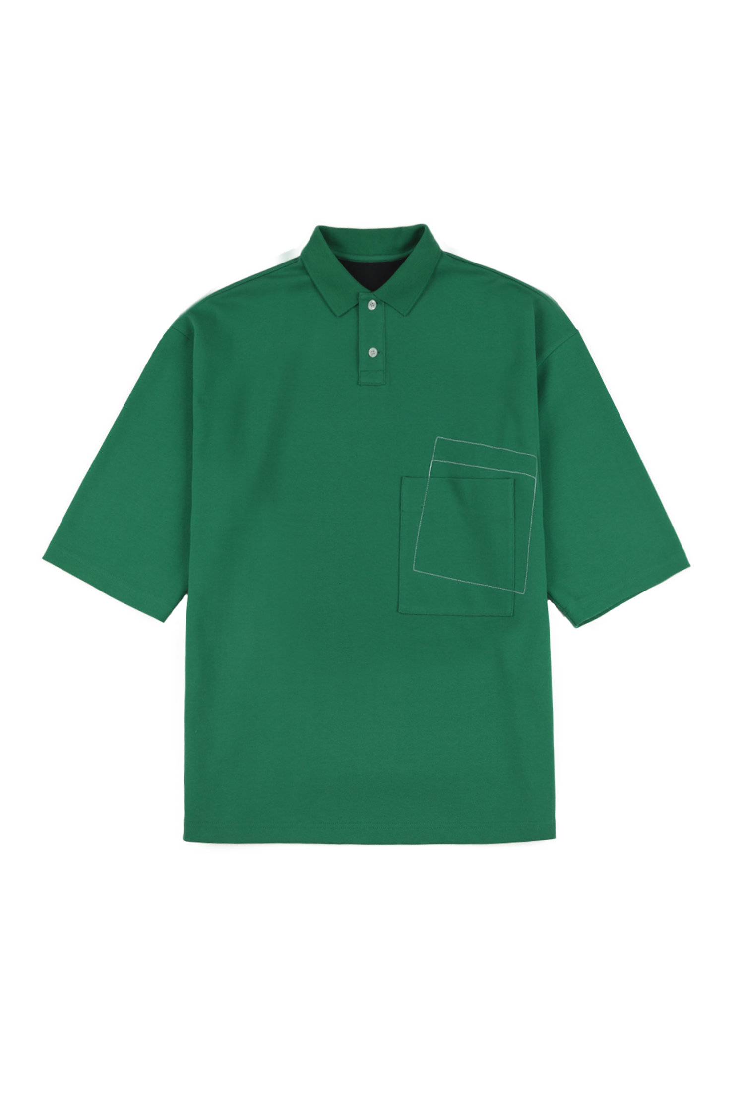 Ader Error Oversized 100 Free Polo Shirt Green Fig Collective