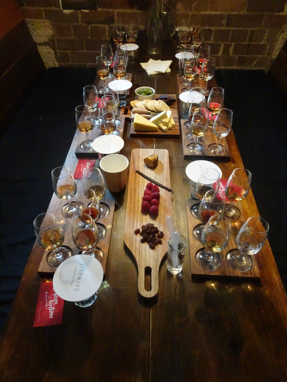 Whisky Manipulations Tasting table