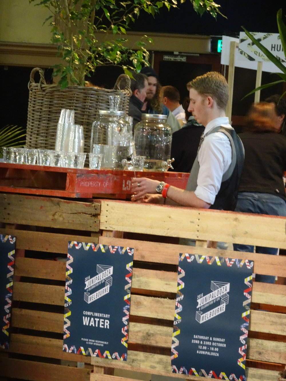 You know service is taken seriously here when bartenders from one of Melbourne's top gin bars are drafted in to head up hydration stations and hand out cups of water.