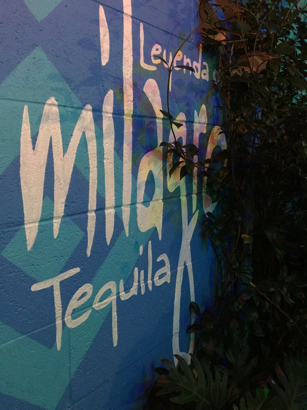 Milagro Tequila sign