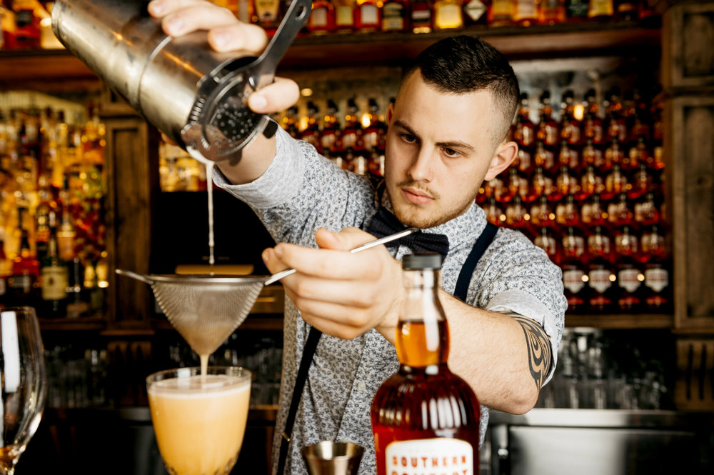 Jacob Cohen of the Three Wolves in Cairns & winner of the Southern Comfort cocktail competition