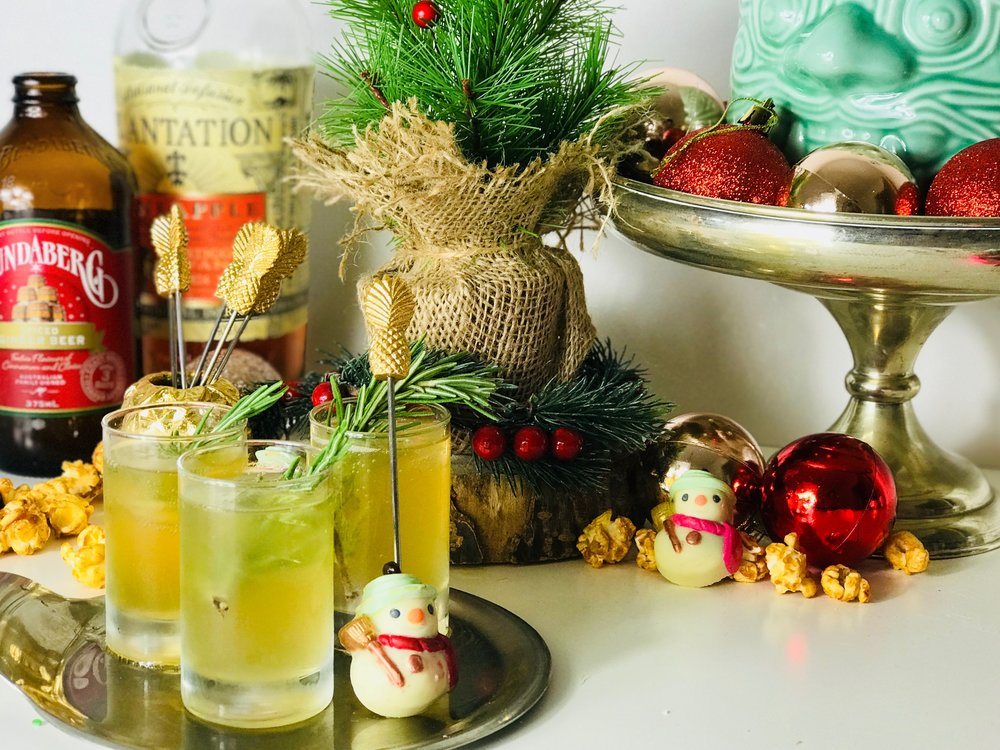 Pineapple Punch Christmas Cocktail