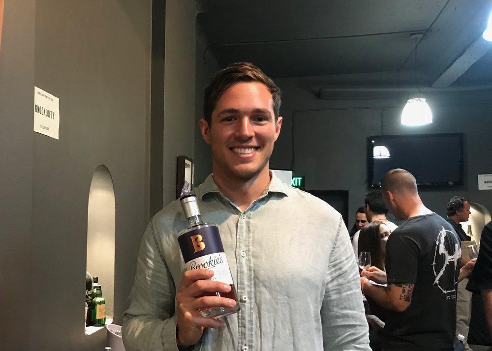Eddie Brook of Cape Byron Distillery with Brookie's Gin