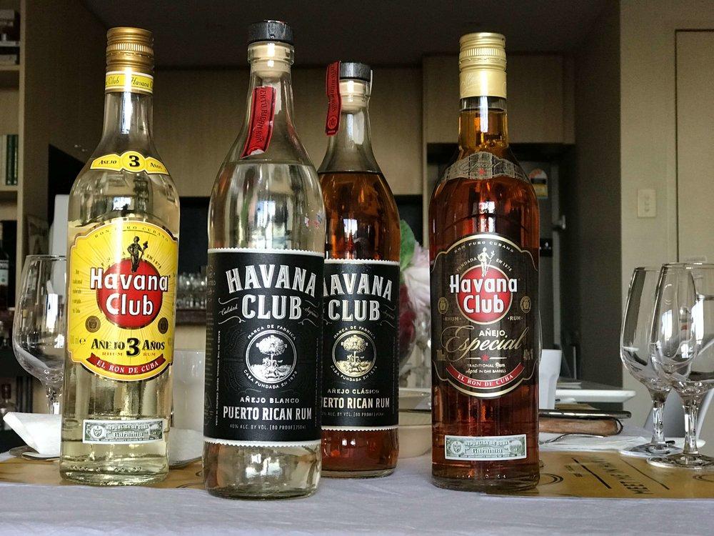 The Havana Club rum family