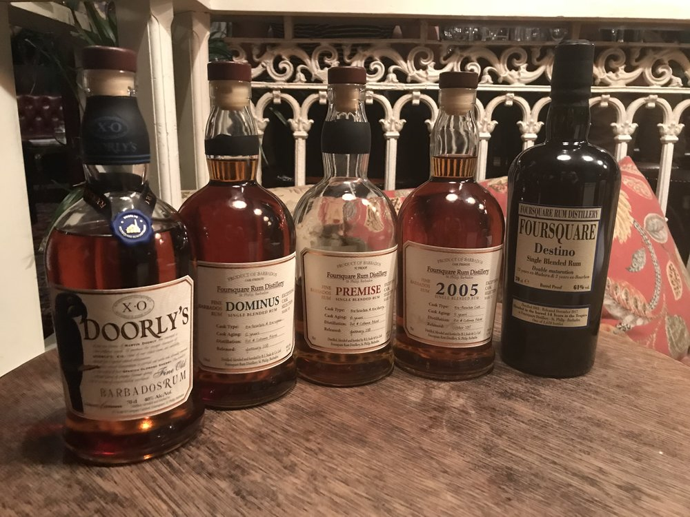 Range of rums produced by Foursquare Distillery