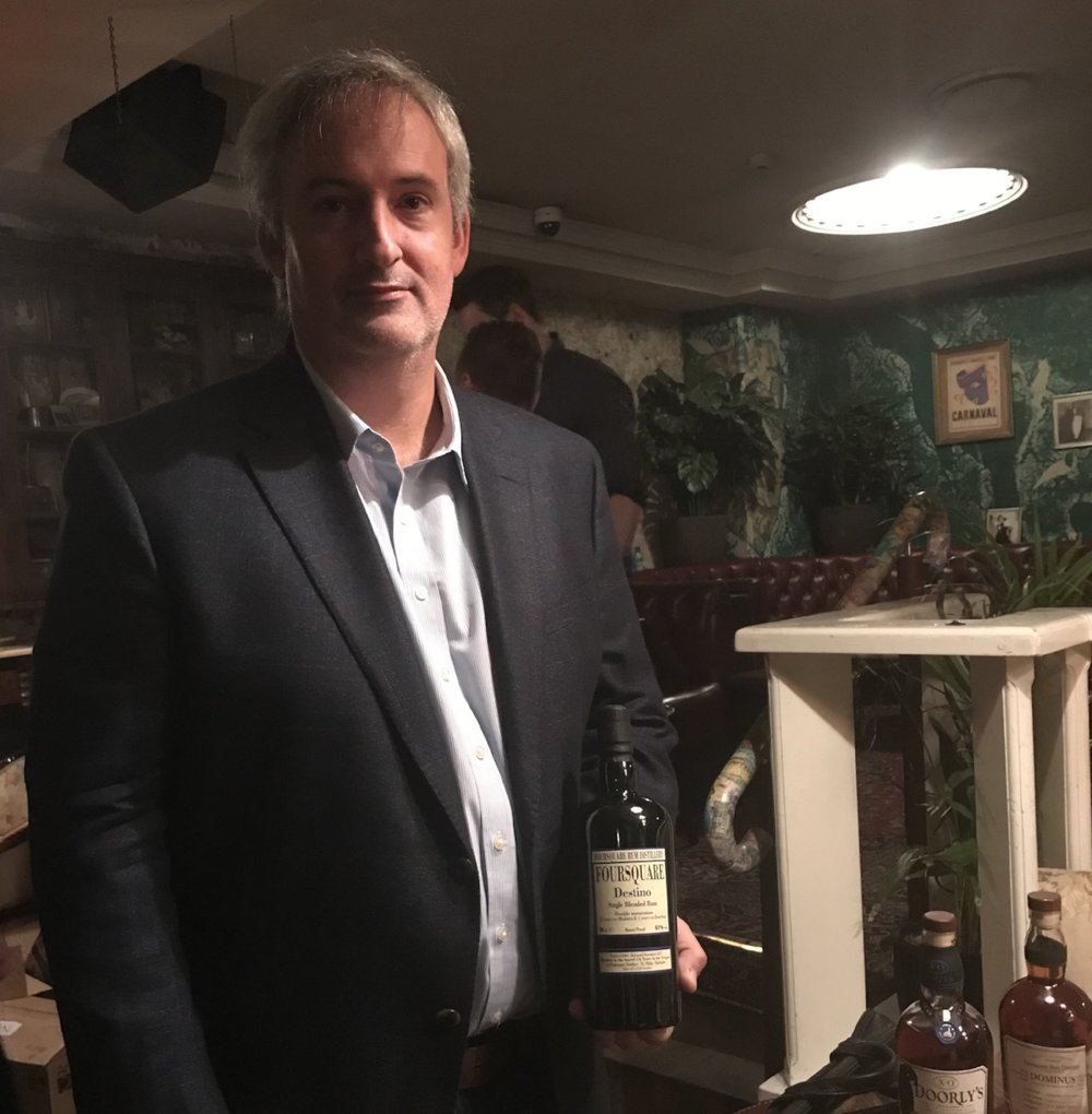 Richard Seale with the Destino, a rum from Foursquare's collaboration with Velier
