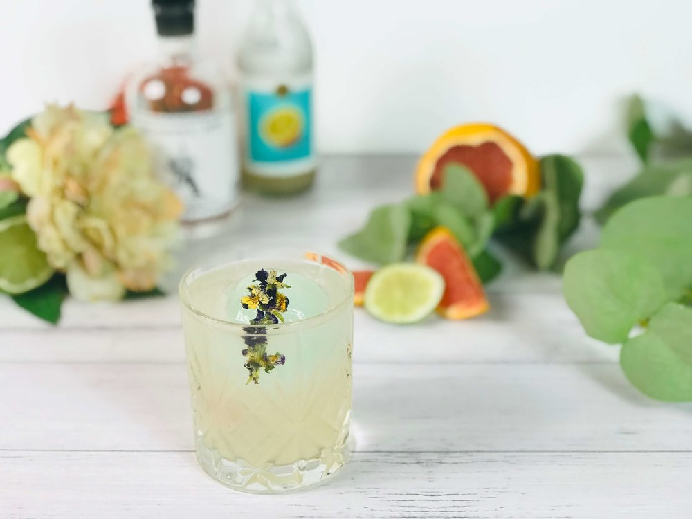 Brunswick Aces and Strangelove salted grapefruit soda makes for a non-alcoholic twist on the Paloma cocktail