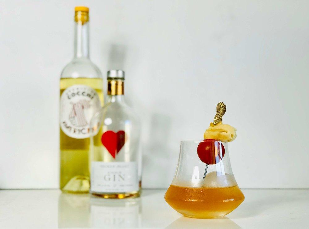 Quince Gin Cocchi Americano Cocktail