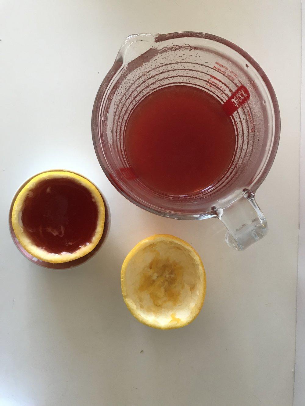How to make Negroni jelly orange wedges