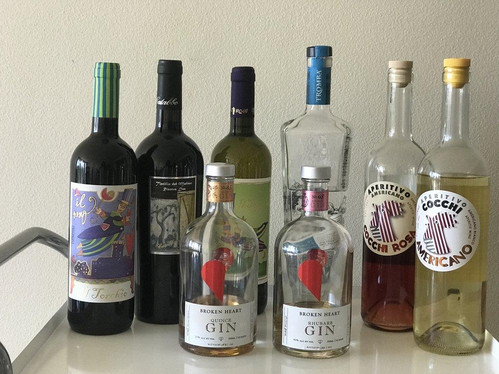 Bartender vs Sommelier wine and spirits lineup