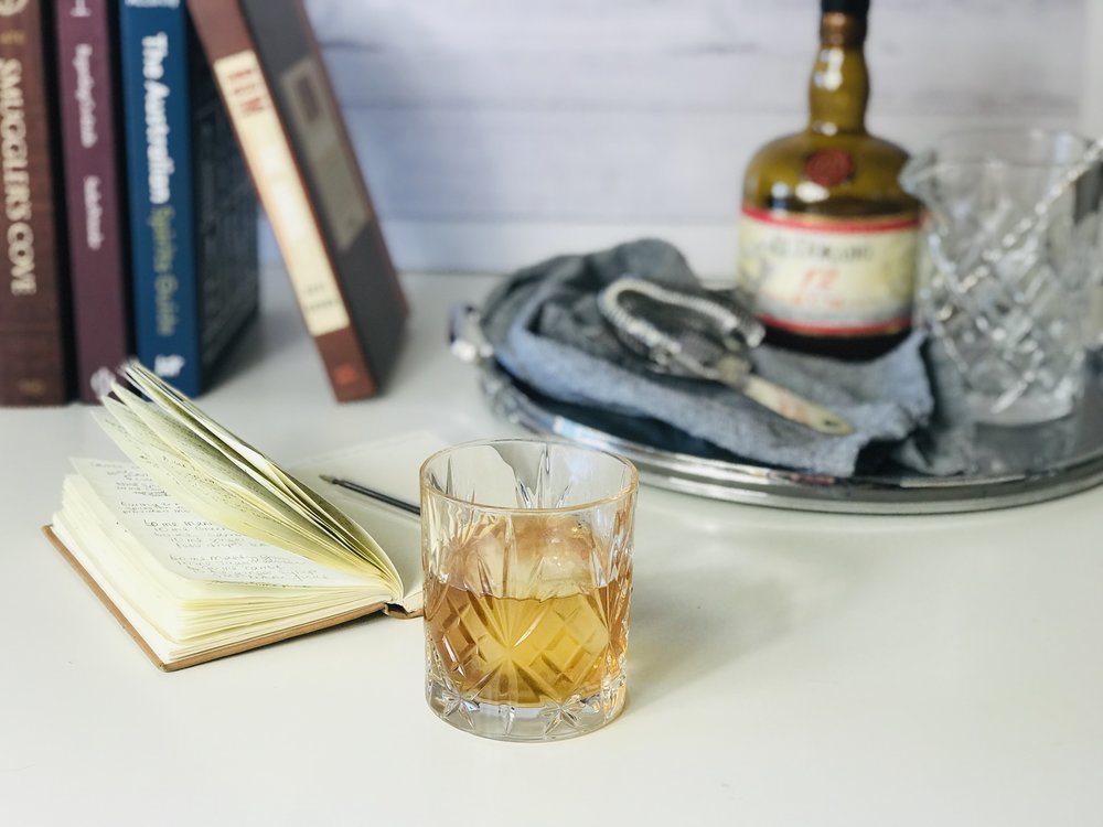 Brown Buttered Rum Old Fashioned