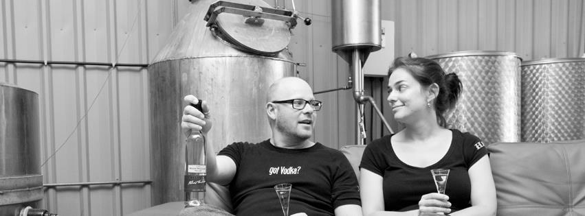Nathan Williams and Helen Baker of Baker Williams Distillery - photo: supplied