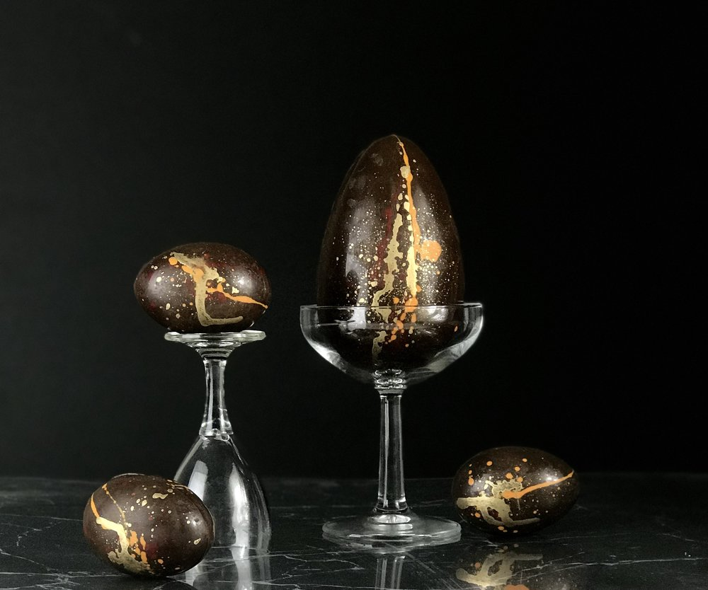 Butterscotch Eggspresso Martini chocolate Easter egg in different sizes