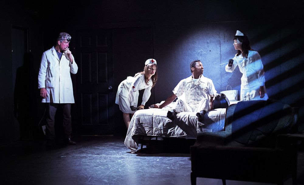 'Bad Medicine,' a segment from 'The Noir Series,' features a chain-smoking doctor and two disconcerting nurses. Credit:   Turner Munch.