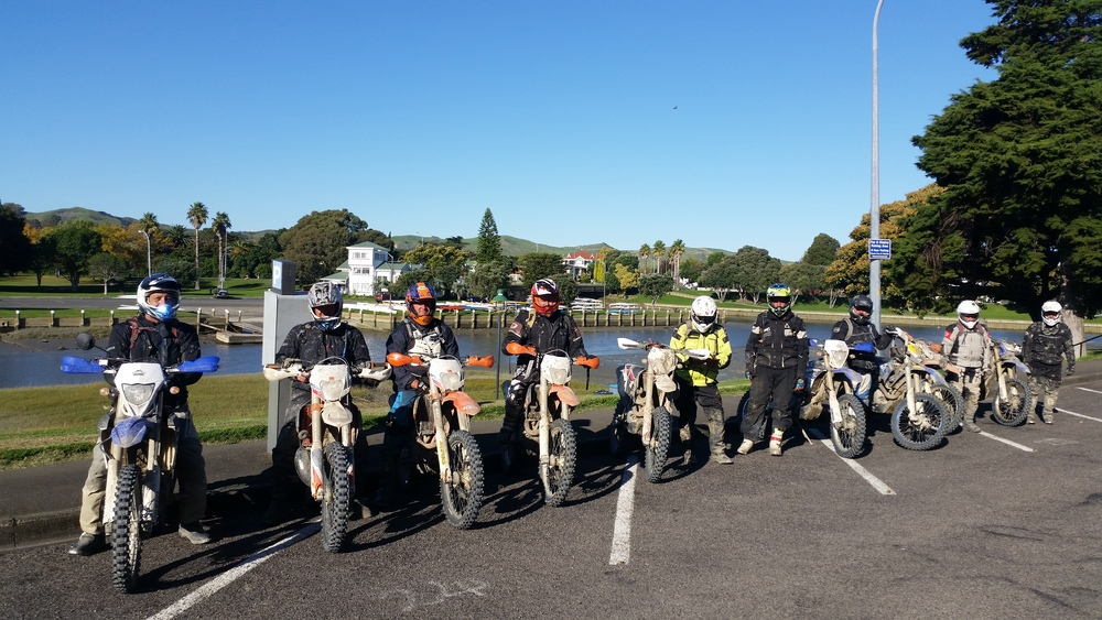 The riders on the Yamaha East Cape Ride in Gisborne