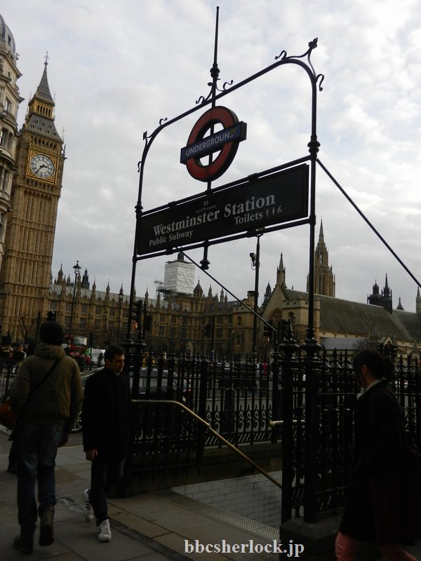 2014年1月:Westminster駅に降りる入口