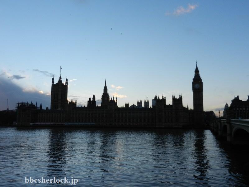 2014年1月:ウェストミンスター宮殿一帯