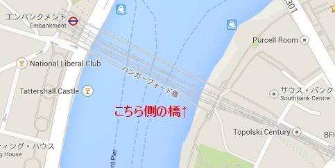 線路を挟んで2本の橋が架かっています。ドラマで出てくるのは西側にかかっている橋です。