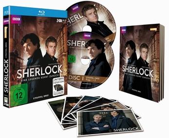 ポストカード6枚付 SHERLOCK シリーズ3UK(ドイツ)版DVD/Blu-Ray