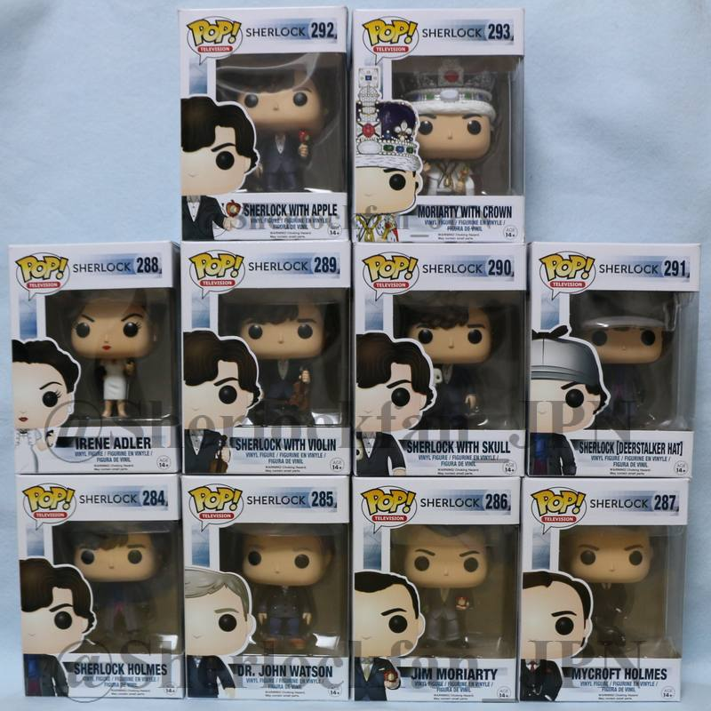 Funko POP! SHERLOCK/シャーロック シリーズ全10体。