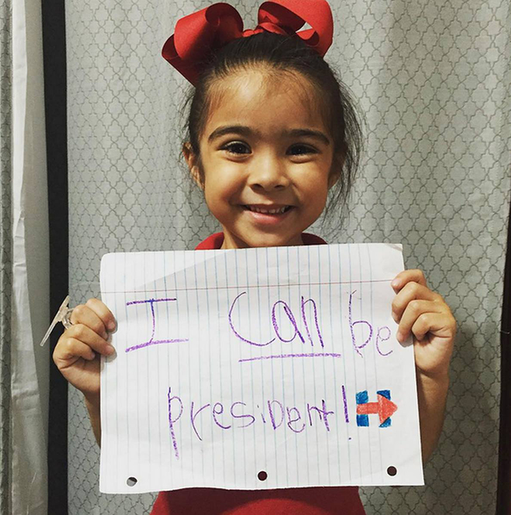 Image used from https://www.hillaryclinton.com/post/10-little-girls-who-are-ready-first-woman-president/