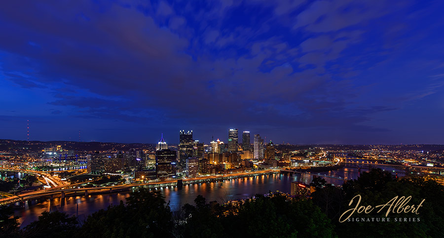 Such a beautiful skyline! Shot from Mt. Washington