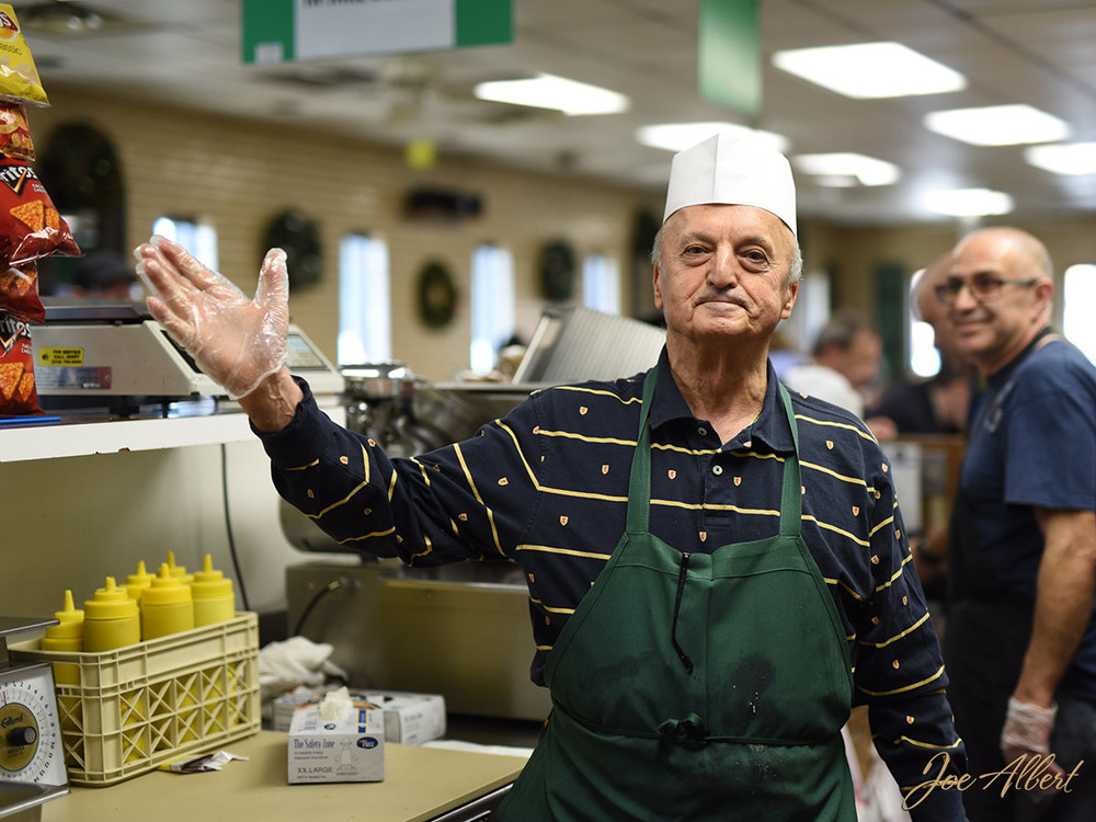 This is the master slicer! He is the owner and a true guy who loves his job!