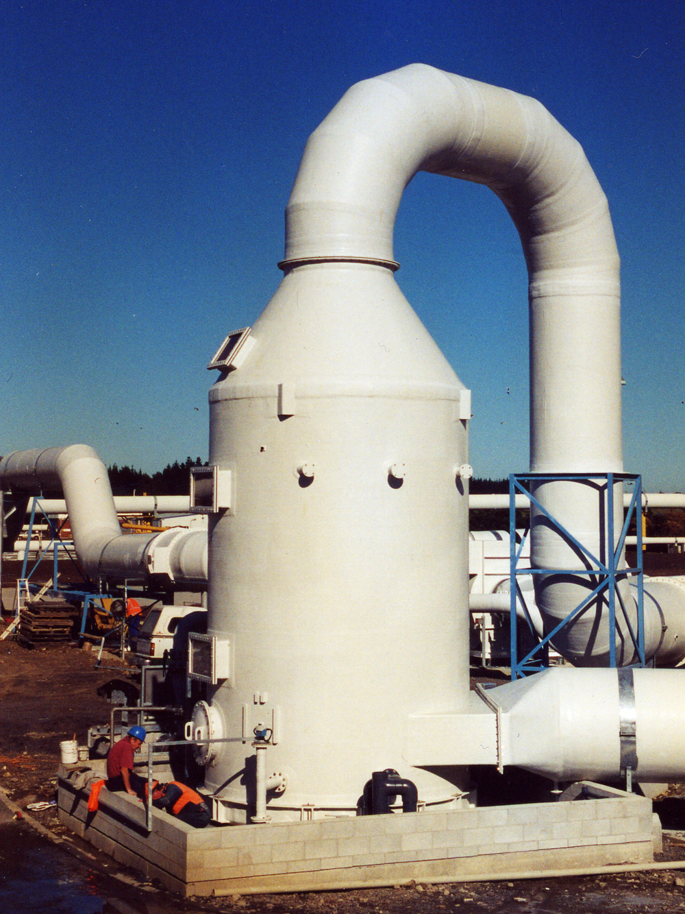 P  Ammonia Scrubber and Fibreglass Ducting at Wastewater