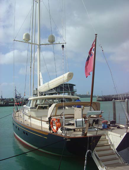 Paradiso by Alloy Yachts International Ltd with ARMATEC fibreglass engine exhaust tubing
